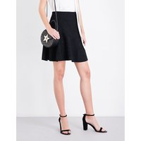 High-rise A-line lace skirt