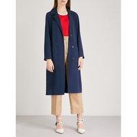 Notch-lapel twill coat