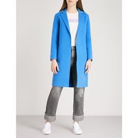 Notch-lapel wool coat