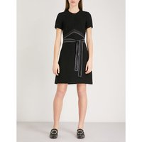 Silk-satin belt woven dress
