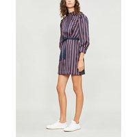 Respect striped satin dress