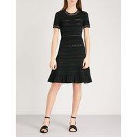 Ribbed-knit dress