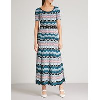 Zigzag maxi knitted dress