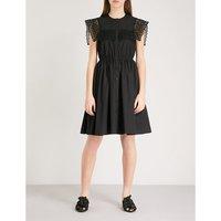 Embroidered yoke cotton dress