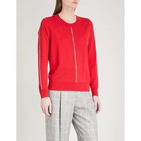 Contrast-trim wool jumper
