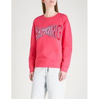 Happening slogan-detail knitted sweatshirt