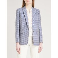 Checked cotton jacket