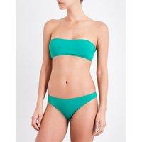 French Connection Bandeau bikini top, Women's, Size: XS, Verdant green