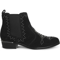 Abracadabra studded suede chelsea boots