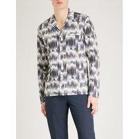 图形 苗条-适合 棉 衬衫