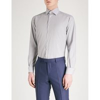 Striped contemporary-fit cotton shirt