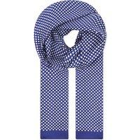 Eton Polka dot silk scarf, Mens, Size: 1 Size, Blue