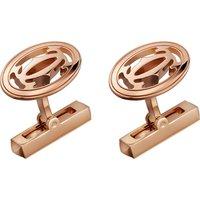 CARTIER | Cartier Double C Logo 18ct pink-gold cufflinks | Goxip