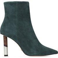 Kg Kurt Geiger Green Elegant Raine Suede Mid-Heel Ankle Boots, Size: Eur 40 / 7 Uk Women