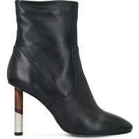 Kg Kurt Geiger Black Raven Contrast-Heel Leather Boots, Size: Eur 36 / 3 Uk Women
