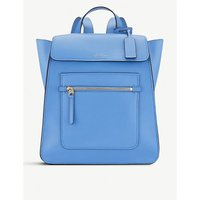 Smythson Nile Blue Bond Leather Backpack