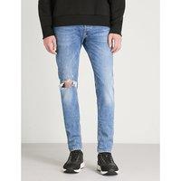 Sleenker ripped stretch-denim jeans