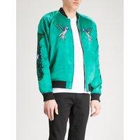 J-sine reversible satin and velvet bomber jacket