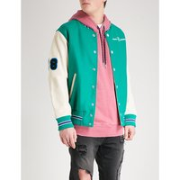 L-Harry wool and leather bomber jacket