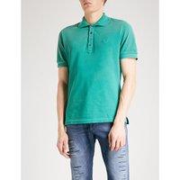 T-Night cotton-piqué polo shirt