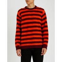 K-Piling stripe-pattern wool jumper