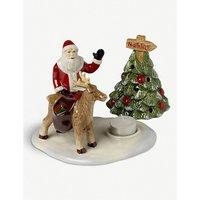 Father Christmas porcelain candle holder 17.5cm x 13.5cm x 14cm
