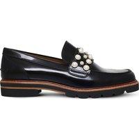 Stuart Weitzman Embellished leather loafers, Women's, Size: EUR 38 / 5 UK WOMEN, Black