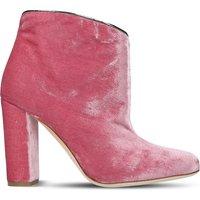 Eula velvet heeled boots