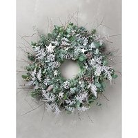 Frosted winter outdoor wreath