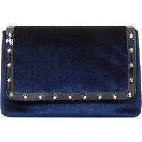 Borriss velvet studded clutch bag