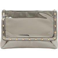 Borriss metallic studded clutch bag