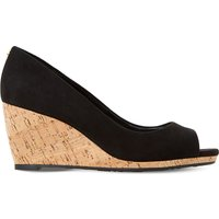 Cadence suede cork wedge courts