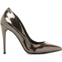 Daisie patent-leather heeled courts