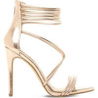 Answer sm metallic leather sandals