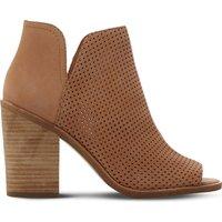 Steve Madden Tala perforated nubuck boots, Women's, Size: EUR 41 / 8 UK WOMEN, Tan-nubuck