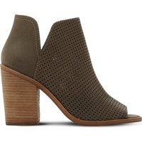 Steve Madden Tala perforated nubuck boots, Women's, Size: EUR 41 / 8 UK WOMEN, Khaki-nubuck