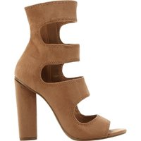 Steve Madden Tawnie multi-strap suede sandals, Women's, Size: EUR 39 / 6 UK WOMEN, Camel-suede
