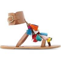 Tassel fabric sandals