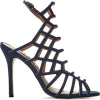 Steve Madden Slithur caged suede sandals, Women's, Size: EUR 40 / 7 UK WOMEN, Navy-nubuck
