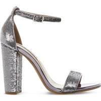 Steve Madden Carsson sequin sandals, Women's, Size: EUR 37 / 4 UK WOMEN, Pewter-synthetic