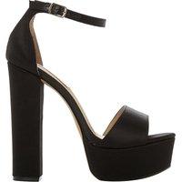 Steve Madden Gonzo satin platform sandals, Women's, Size: EUR 38 / 5 UK WOMEN, Black-fabric