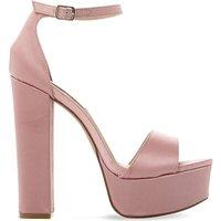 Steve Madden Gonzo satin platform sandals, Women's, Size: EUR 37 / 4 UK WOMEN, Pink-fabric