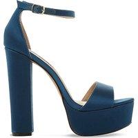 Steve Madden Gonzo satin platform sandals, Women's, Size: EUR 38 / 5 UK WOMEN, Teal-fabric