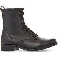 Steve Madden Leather biker boots, Women's, Size: EUR 36 / 3 UK WOMEN, Black-leather