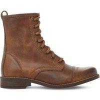 Steve Madden Charrie leather biker boots, Women's, Size: EUR 36 / 3 UK WOMEN, Tan-leather