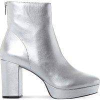 Steve Madden Peace SM leather ankle boot, Women's, Size: EUR 36 / 3 UK WOMEN, Silver-leather