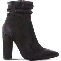 Steve Madden Ruling SM ruched ankle boots, Women's, Size: EUR 36 / 3 UK WOMEN, Black-nubuck