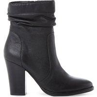 Steve Madden Hunk SM leather calf boot, Women's, Size: EUR 36 / 3 UK WOMEN, Black-leather