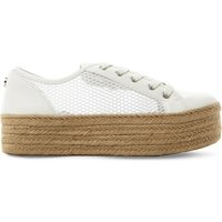 Steve Madden Mars perforated mesh trainers, Women's, Size: EUR 36 / 3 UK WOMEN, White-synthetic