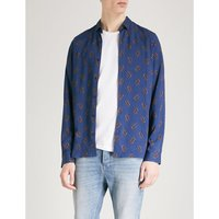 抽象-模式 苗条-适合 棉 衬衫